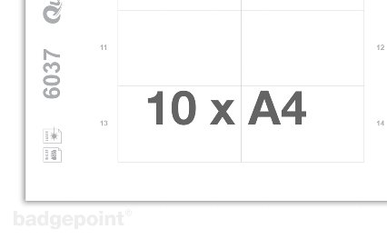 Printing sheets blank white 6037