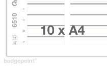 Printing sheets blank white 6510