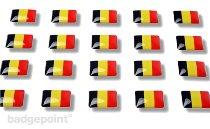 """Flag stickers """"Belgium"""""""