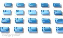 """Drapeaux autocollants """"Grèce"""""""