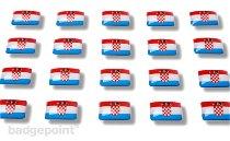 "Flag stickers ""Croatia"""