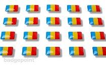 "Flag stickers ""Romania"""