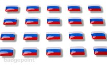 "Flag stickers ""Russia"""