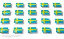 "Adesivi con bandierine ""Svezia"""