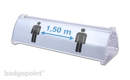 Table name badge pult duo 150